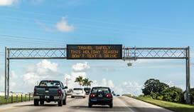 Painel de Mensagem Fixo e Painel de Mensagem Móvel, para Estradas e Rodovias